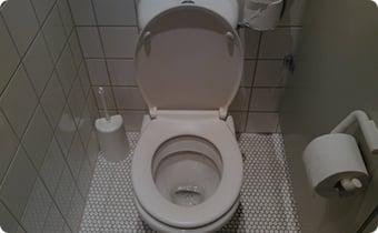 トイレの中が狭い