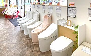 トイレ9台展示